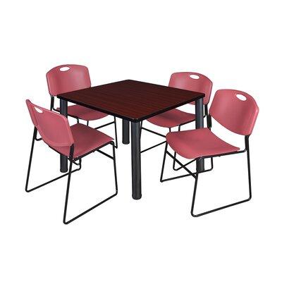 Kee Square Table Base Finish: Black, Size: 29 H x 42 W x 42 D, Top Finish: Mahogany