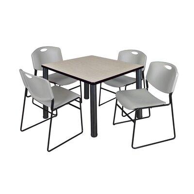 Kee Square Table Base Finish: Black, Size: 29 H x 42 W x 42 D, Top Finish: Maple