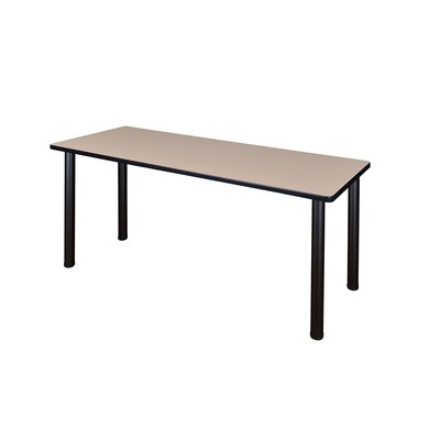 Kee Training Table Tabletop Finish: Beige, Size: 29 H x 60 W x 24 D, Base Finish: Black