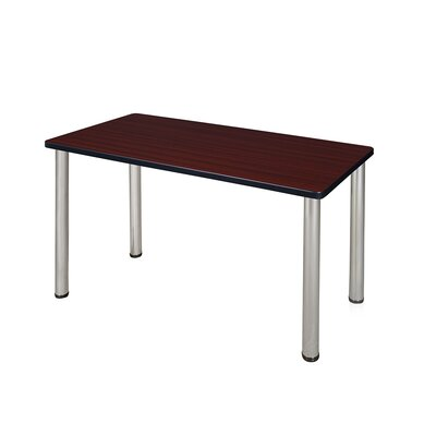 Kee Training Table Tabletop Finish: Mahogany, Size: 29 H x 48 W x 24 D, Base Finish: Chrome