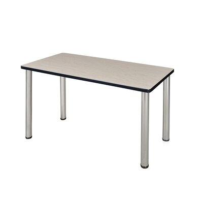 Kee Training Table Tabletop Finish: Maple, Size: 29 H x 48 W x 24 D, Base Finish: Chrome