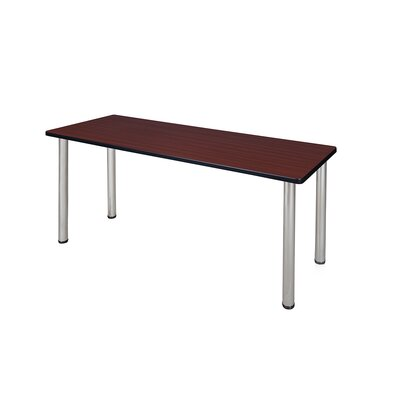 Kee Training Table Tabletop Finish: Mahogany, Size: 29 H x 60 W x 24 D, Base Finish: Chrome