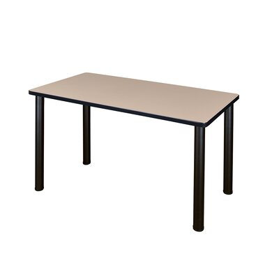 Kee Training Table Tabletop Finish: Beige, Size: 29 H x 48 W x 24 D, Base Finish: Black