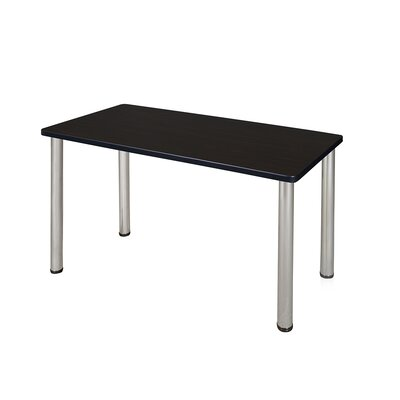 Kee Training Table Tabletop Finish: Mocha Walnut, Size: 29 H x 48 W x 24 D, Base Finish: Chrome