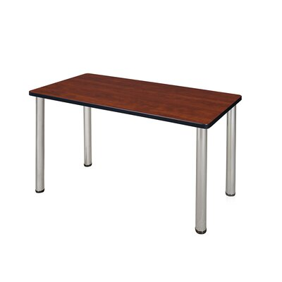 Kee Training Table Tabletop Finish: Cherry, Size: 29 H x 48 W x 24 D, Base Finish: Chrome