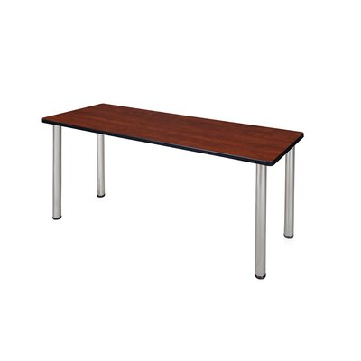 Kee Training Table Tabletop Finish: Cherry, Size: 29 H x 60 W x 24 D, Base Finish: Chrome