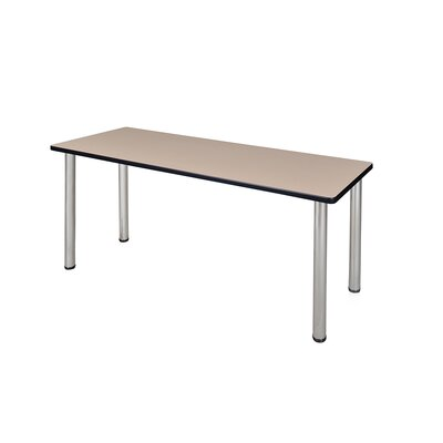 Kee Training Table Tabletop Finish: Beige, Size: 29 H x 72 W x 24 D, Base Finish: Chrome