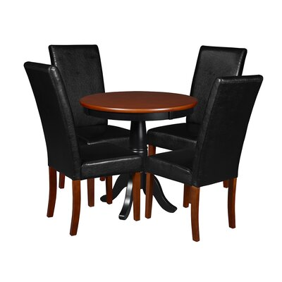 Niche 5 Piece Dining Set Finish: Cherry/Black