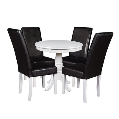 Niche 5 Piece Dining Set Finish: White