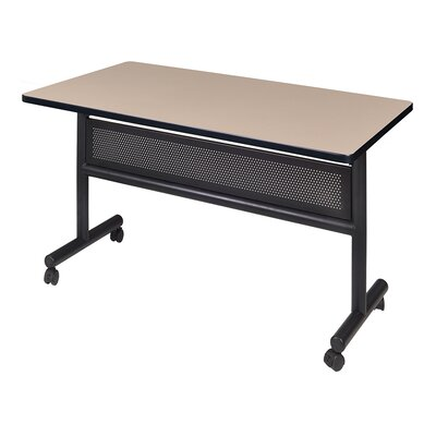 Kobe Training Table with Wheels Size: 29 H x 48 W x 24 D, Tabletop Finish: Mocha Walnut