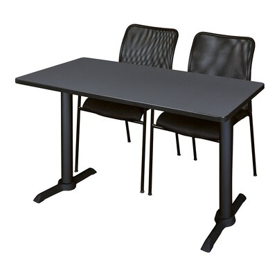 Cain Training Table with Chairs Tabletop Finish: Gray, Size: 72 W x 24 D