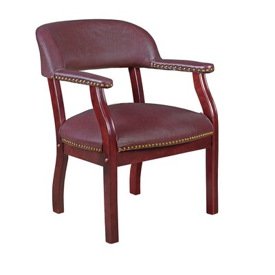 Tharptown Guest Chair Fabric: Burgundy, Casters/Glides: Not Included