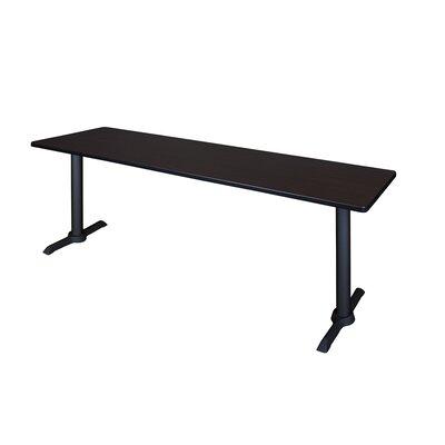 Training Table Size: 84 W, Tabletop Finish: Mocha Walnut