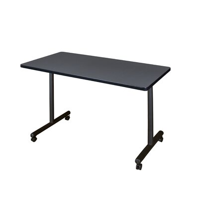Training Table with Wheels Size: 48 W, Tabletop Finish: Grey Nebula