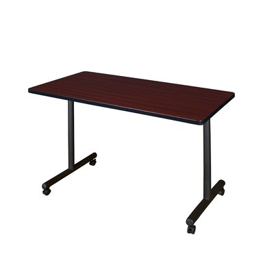 Training Table with Wheels Size: 48 W, Tabletop Finish: Mahogany