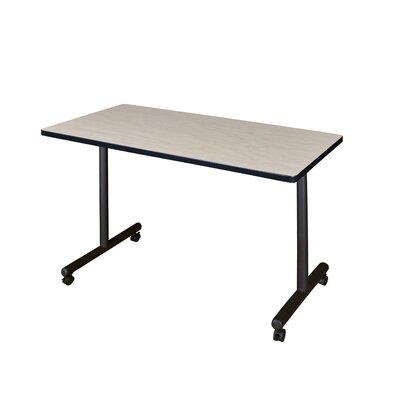Training Table with Wheels Size: 48 W, Tabletop Finish: Maple