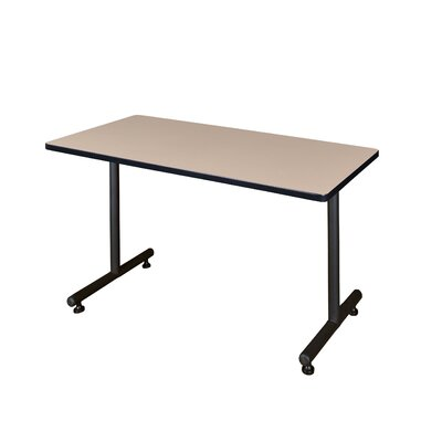 Training Table with Wheels Size: 48 W, Tabletop Finish: Beige Nebula