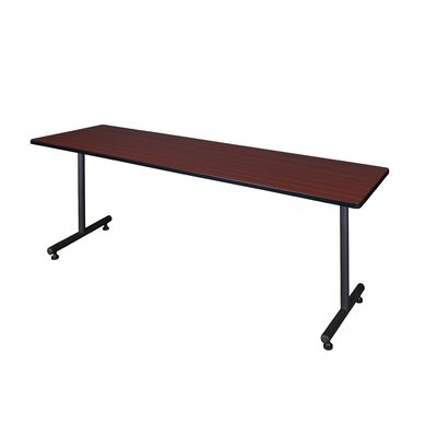 Training Table with Wheels Size: 66 W, Tabletop Finish: Mocha Walnut