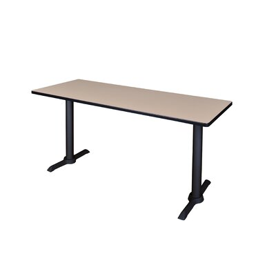 Training Table Size: 48 W, Tabletop Finish: Mocha Walnut