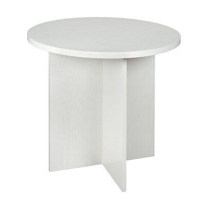 Niche End Table Color: White Wood Grain