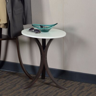 Niche Mia Bentwood End Table Finish: Mocha Walnut/Beige