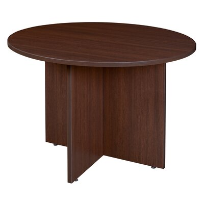 Legacy Circular 29H x 42W x 42L Conference Table Finish: Java