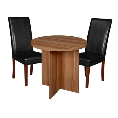 Niche Mod 3 Piece Dining Set Finish: Warm Cherry/ Cherry