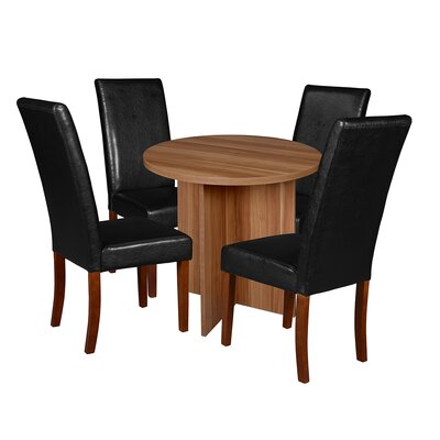 Niche Mod 5 Piece Dining Set Finish: Warm Cherry/ Cherry