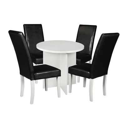 Niche Mod 5 Piece Dining Set Finish: White Wood Grain