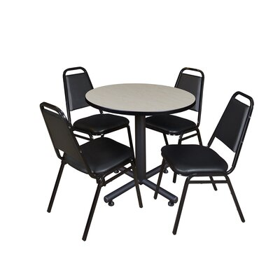 Kobe Square 5 Piece Breakroom Table and Chair Set