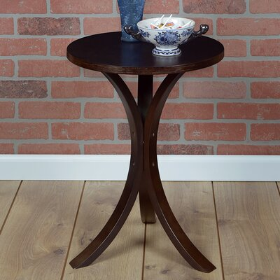 Brisbin Bentwood End Table Color: Mocha Walnut
