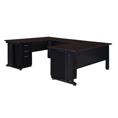 Double Pedestal Corner Desk Product Photo