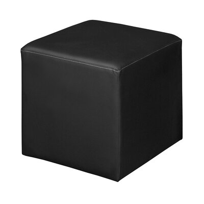 Bittle Square Ottoman Upholstery: Black