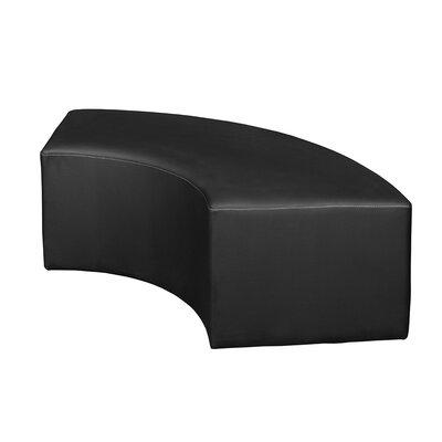 Bittner Curved Ottoman Upholstery: Black