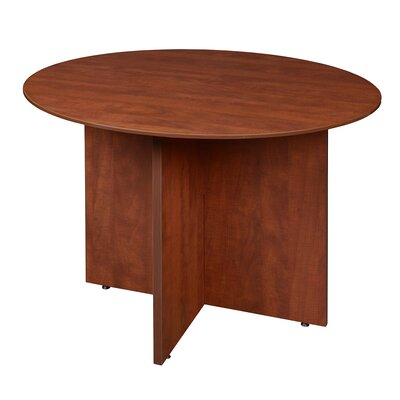 Quintero Circular 29H x 42W x 42L Conference Table Finish: Cherry