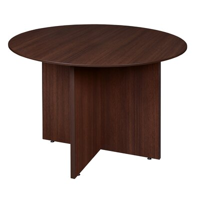 Quintero Circular 29H x 42W x 42L Conference Table Finish: Java