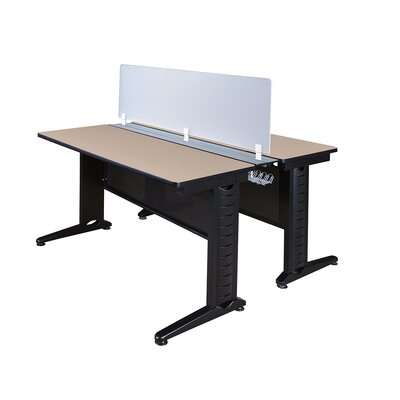 Fusion Workstation with Partition Finish: Beige