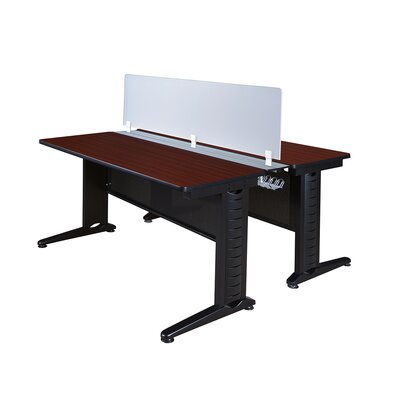 Fusion Workstation with Partition Finish: Mahogany