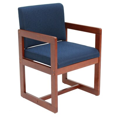 Elianna Sled Base Side Chair Finish: Cherry/Blue