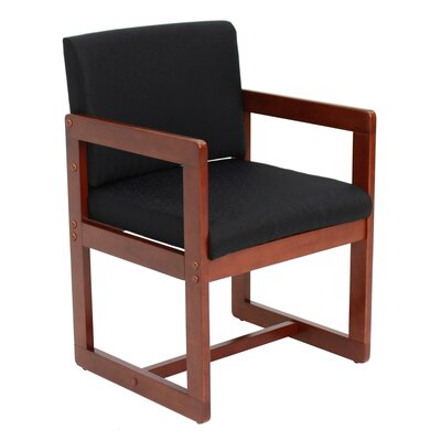 Elianna Sled Base Side Chair Finish: Cherry/ Black