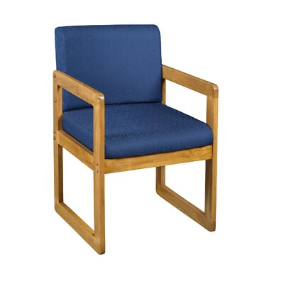 Elianna Sled Base Side Chair Finish: Medium Oak/ Blue