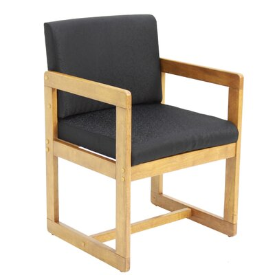 Elianna Sled Base Side Chair Finish: Medium Oak/ Black