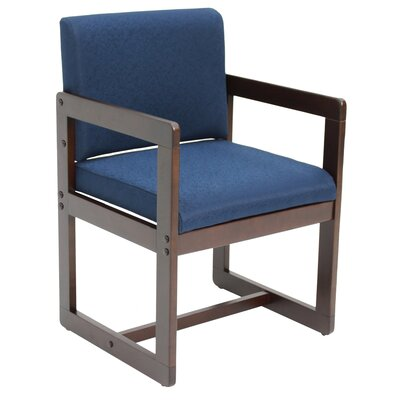 Elianna Sled Base Side Chair Finish: Mocha Walnut/ Blue