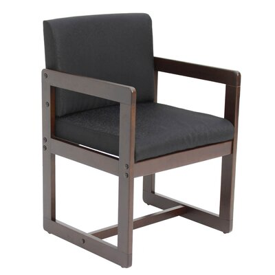 Elianna Sled Base Side Chair Finish: Mocha Walnut/ Black