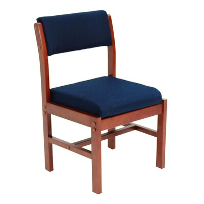 Elianna Leg Base Side Chair Finish: Cherry/ Blue