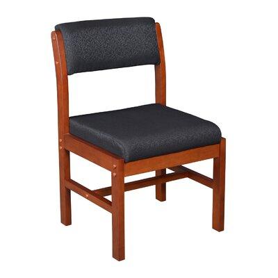 Elianna Leg Base Side Chair Finish: Cherry/ Black