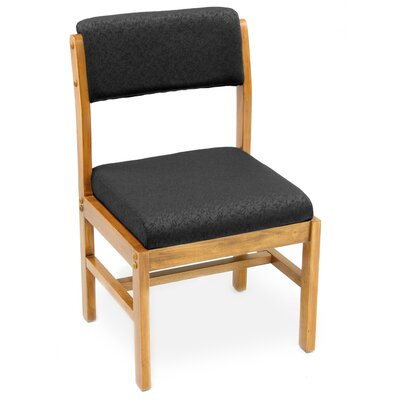 Elianna Leg Base Side Chair Finish: Medium Oak/ Black