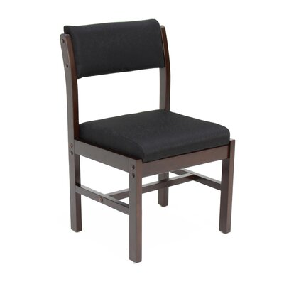 Elianna Leg Base Side Chair Finish: Mocha Walnut/ Black