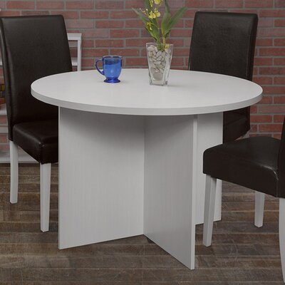 Niche Mod Round Dining Table Finish: White Wood Grain