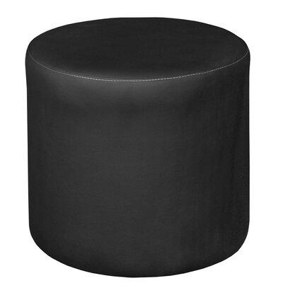 Bitner Round Ottoman Upholstery: Black